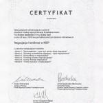 Certyfikat negocjacje handlowe